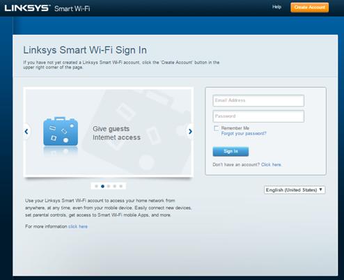 Linksys smart WiFi Router login